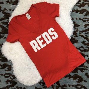 Vs PINK Cincinnati Reds Women's Sequin Tee Small